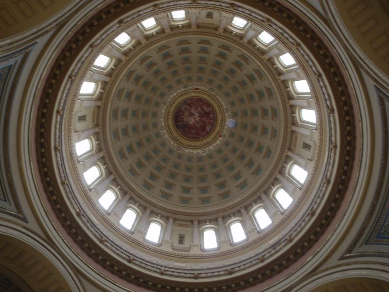 Dome in the Madison Capitol during day