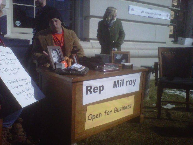 Wi assembly rep milroy office outside