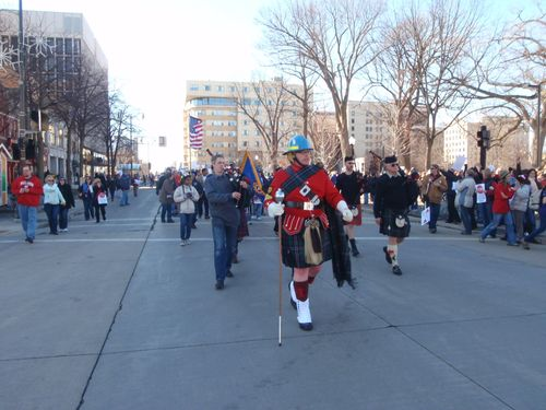 Firefighter parade start