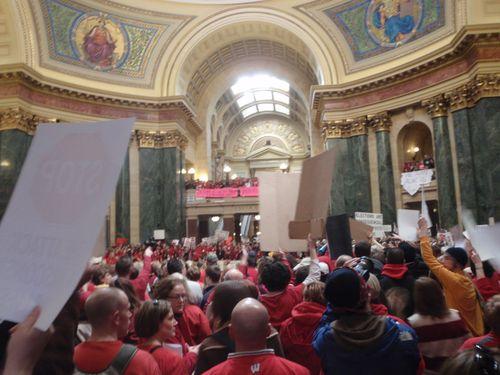 Protesting the budget repair bill