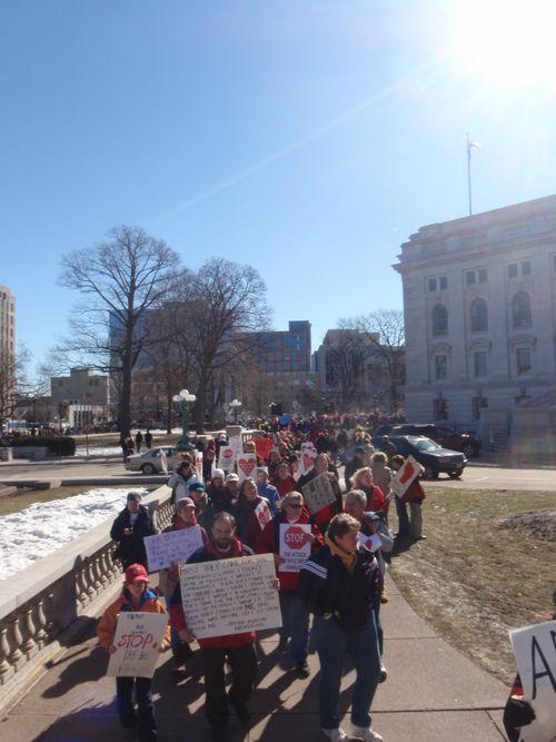Protestors outside capitol