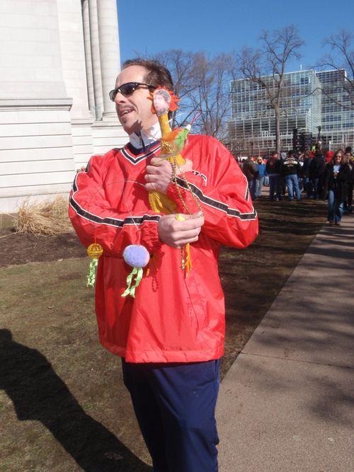 Scott walker as a chicken